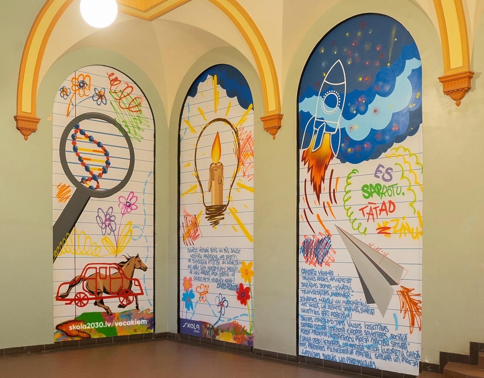 Zīmējumu aicinām apskatīt Rīgā, bijušās Latvijas Universitātes Bioloģijas fakultātes vestibilā, Kronvalda bulvārī 4!